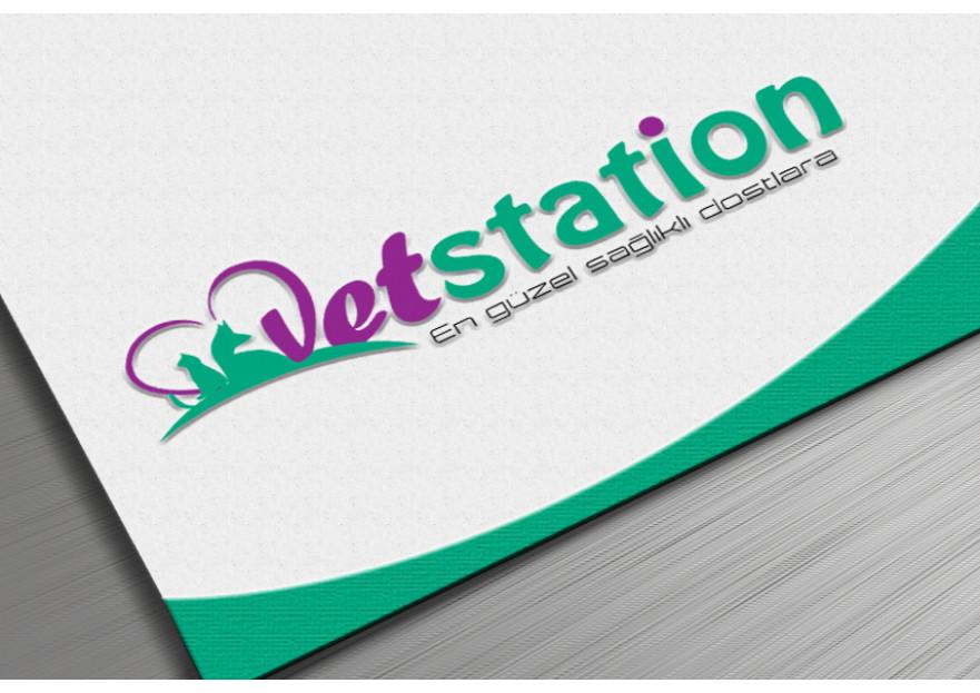 VET STATION VETERİNER KLİNİĞİ   LOGO  yarışmasına tasarımcı dream_design tarafından sunulan  tasarım