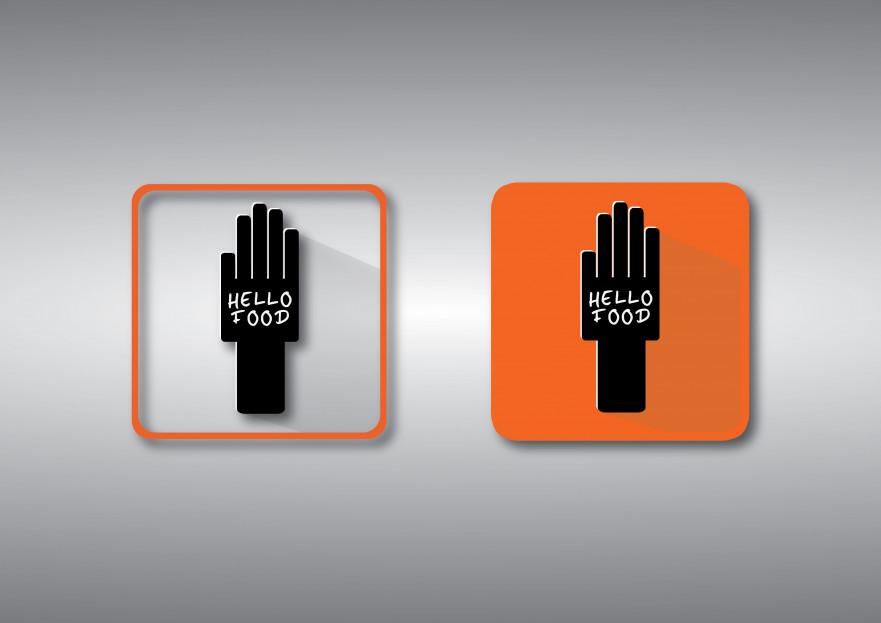 Hello Food uygulamasına logo yarışmasına tasarımcı AKLI FİKRİ TASARIM tarafından sunulan  tasarım