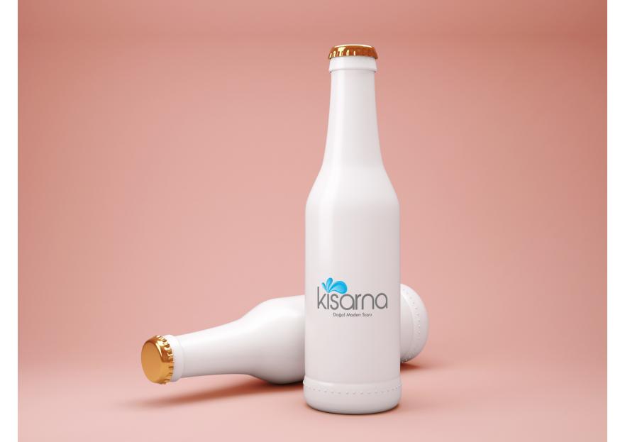 kisarna maden suyu için logo çalışması yarışmasına tasarımcı Creamaxi tarafından sunulan  tasarım