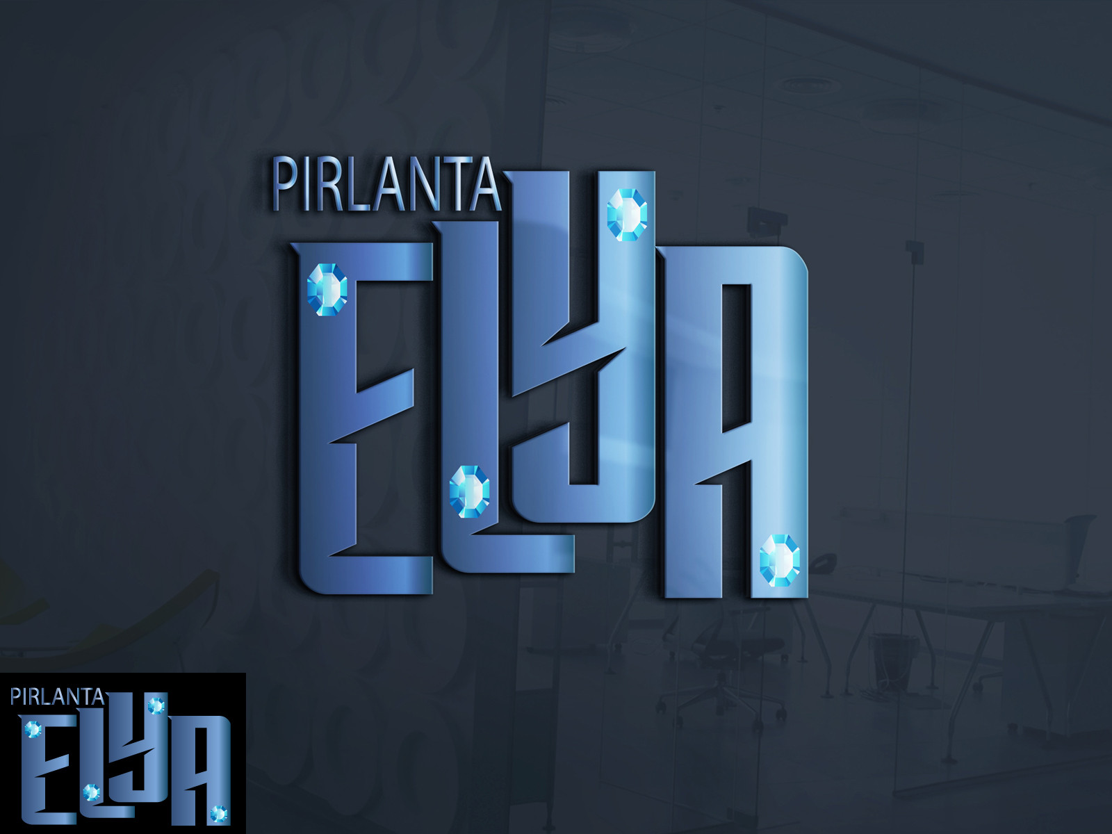 Tasarlayan orhanaras-ELYA Pırlanta firması Logo tasarımı
