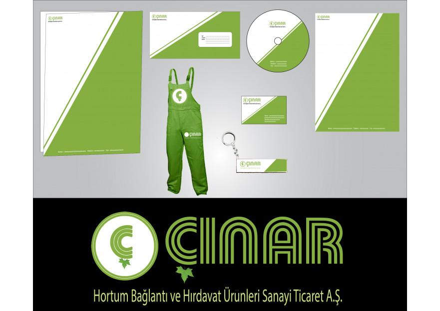 ÇINAR HORTUM LOGO VE KURUMSAL TASARIM yarışmasına tasarımcı Flu_Ajans tarafından sunulan  tasarım