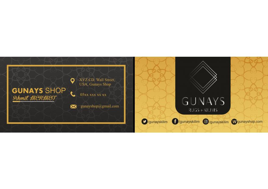 USA de bulunan dukkan icin kartvizit yarışmasına tasarımcı abdul01 tarafından sunulan  tasarım