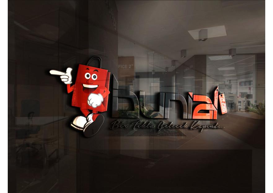 ALIŞVERİŞ SİTESİ İÇİN LOGO yarışmasına Grafiksir™ tarafından girilen tasarım