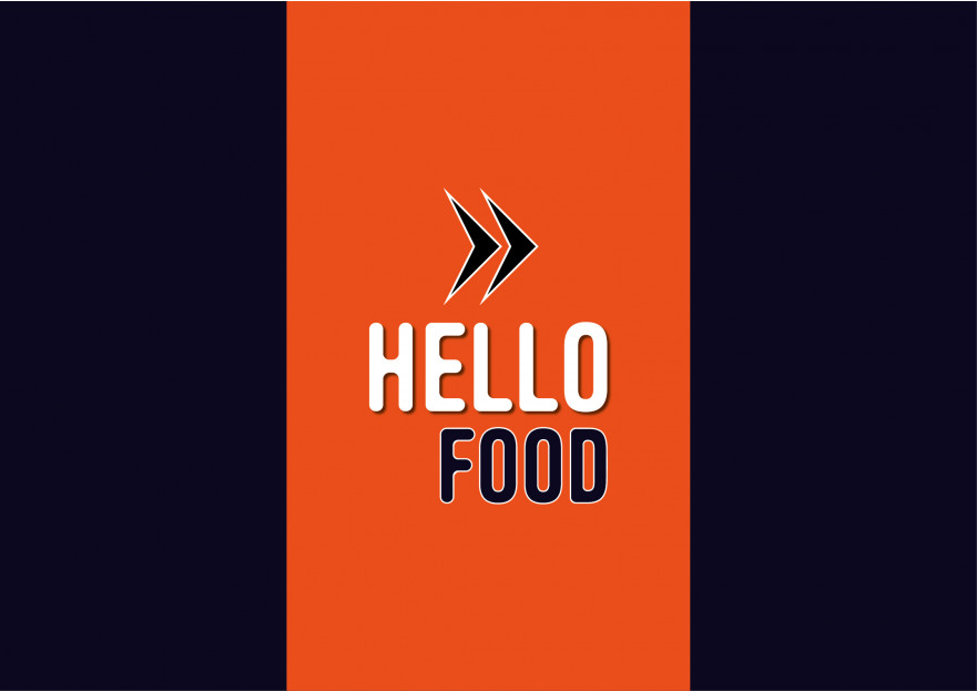 Hello Food uygulamasına logo yarışmasına tasarımcı oxygen tarafından sunulan  tasarım