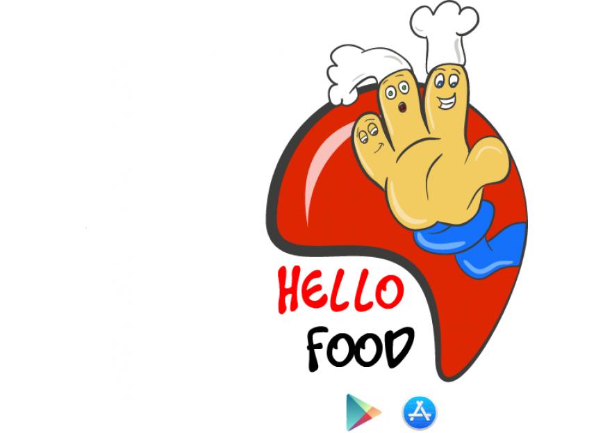 Hello Food uygulamasına logo yarışmasına tasarımcı Kieli tarafından sunulan  tasarım