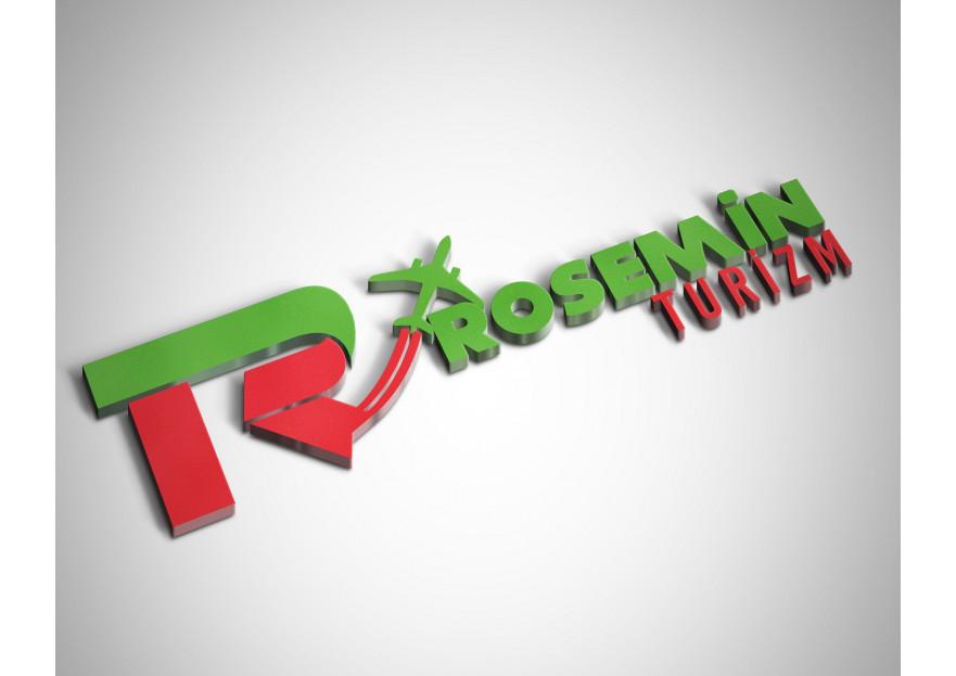 Rosemin Turizm Markamıza Logo Çalışması yarışmasına tasarımcı ugursevi tarafından sunulan  tasarım