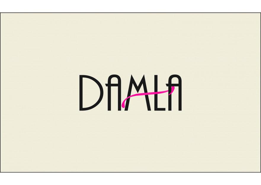DAMLA Çikolata ve Şekerleme logo tasarım yarışmasına tasarımcı sila_ tarafından sunulan  tasarım