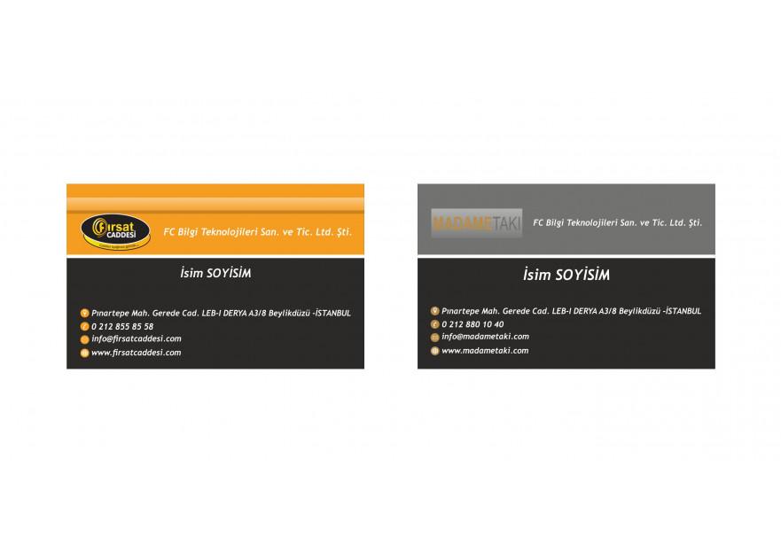 2 Marka Tek Kartvizit yarışmasına tasarımcı Mudi tarafından sunulan  tasarım