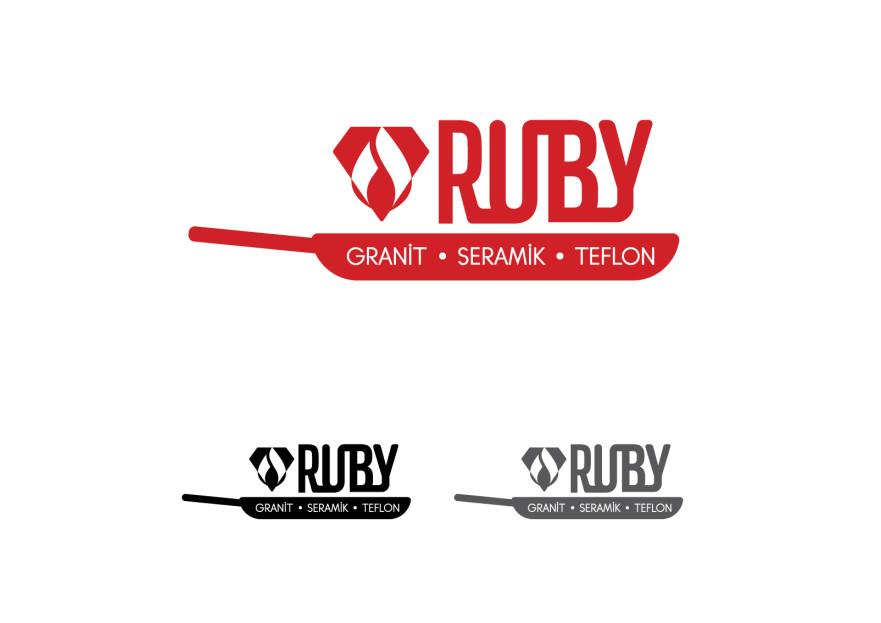 ''RUBY'' ismine logo çalışması  yarışmasına tasarımcı anafor tarafından sunulan  tasarım