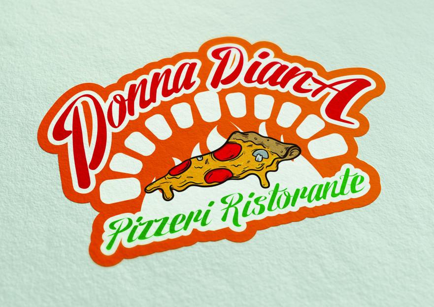 pizza restoranim icin logo tasarimi yarışmasına tasarımcı WinterWitch tarafından sunulan  tasarım