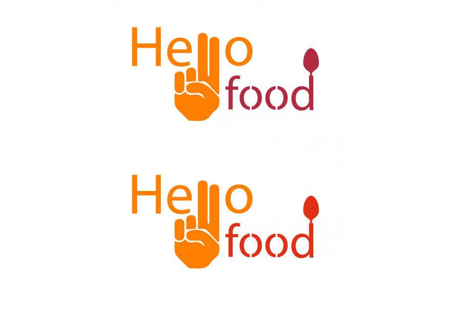 Hello Food uygulamasına logo yarışmasına tasarımcı hfy tarafından sunulan  tasarım