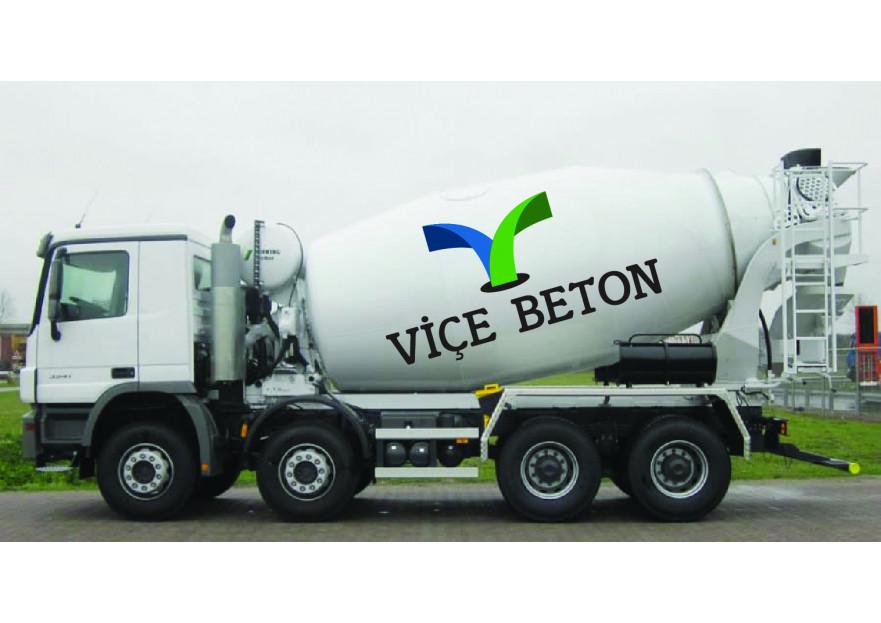 VİÇE BETON Logo Yarışması Başladı yarışmasına tasarımcı cem_10 tarafından sunulan  tasarım