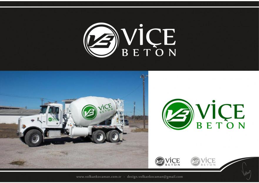 VİÇE BETON Logo Yarışması Başladı yarışmasına tasarımcı volkanKocaman tarafından sunulan  tasarım