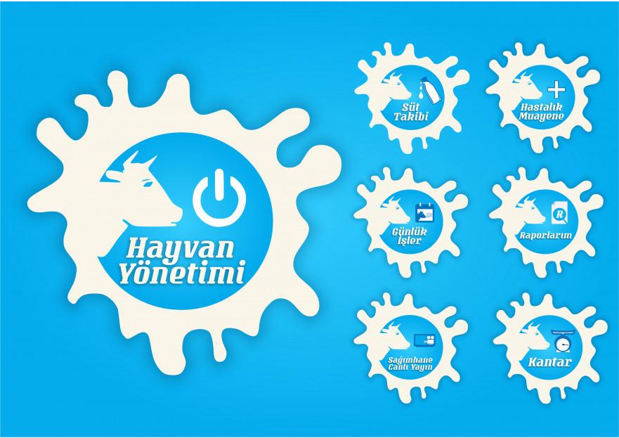 Online Yazılım İkonları yarışmasına tasarımcı Grafiksir™ tarafından sunulan  tasarım