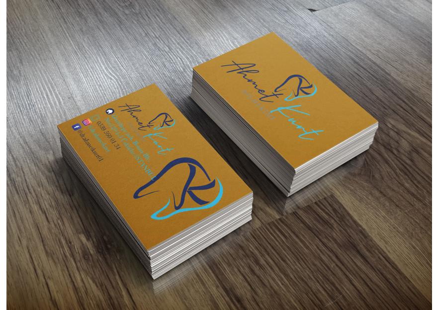 Klinik isim logo ve kartvizit tasarım yarışmasına aysedesign tarafından girilen tasarım