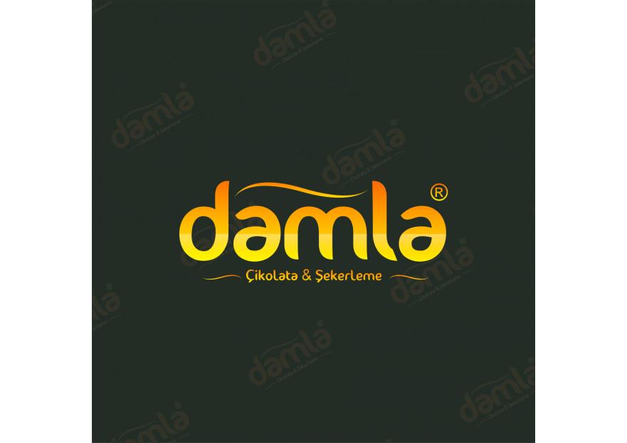 DAMLA Çikolata ve Şekerleme logo tasarım yarışmasına Omer_KILINC tarafından girilen tasarım