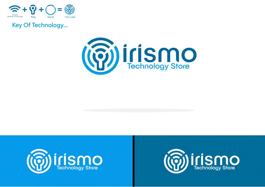 Teknoloji urunleri satis magazasina logo yarışmasına tasarımcı Logoritma tarafından sunulan  tasarım