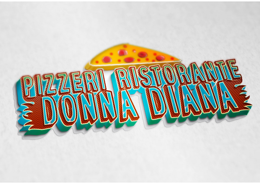 pizza restoranim icin logo tasarimi yarışmasına tasarımcı Sansal tarafından sunulan  tasarım