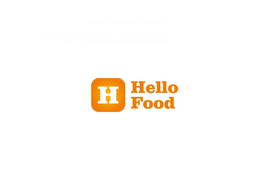 Hello Food uygulamasına logo yarışmasına tasarımcı Designer tarafından sunulan  tasarım