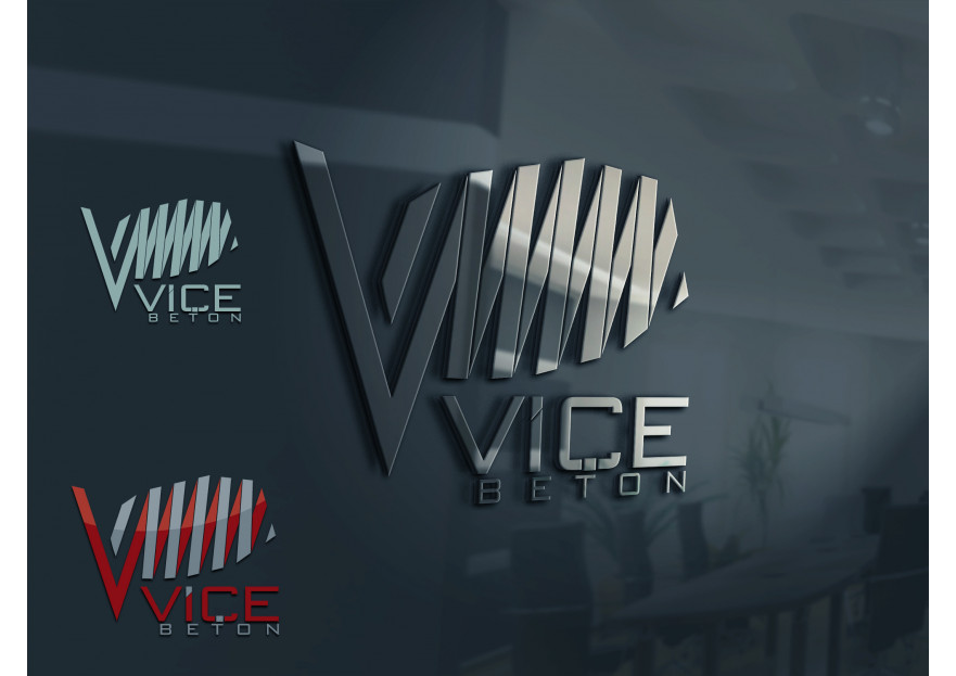 VİÇE BETON Logo Yarışması Başladı yarışmasına tasarımcı grfkismail tarafından sunulan  tasarım