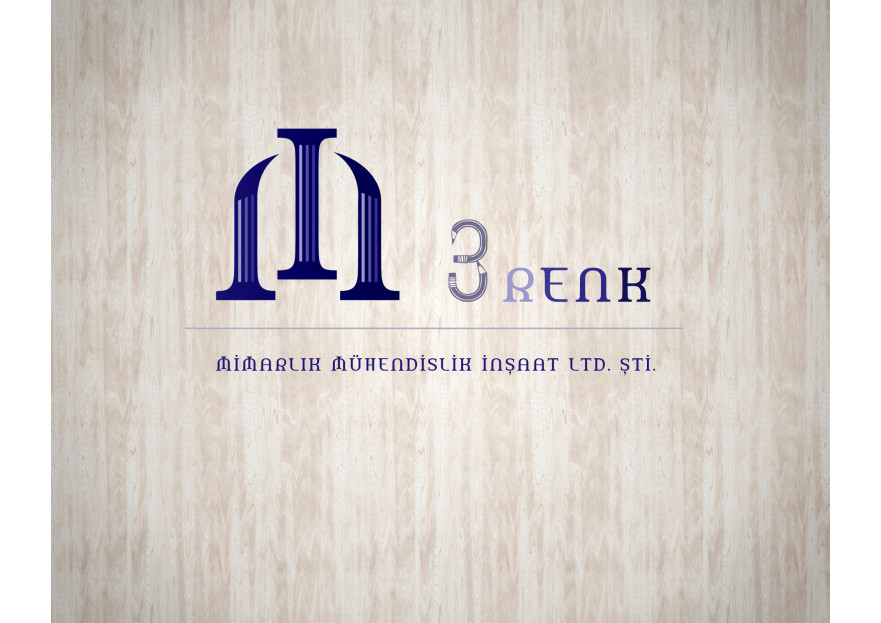 3 RENK MİMARLIK LOGO TASARIMI yarışmasına tasarımcı CBDesign tarafından sunulan  tasarım
