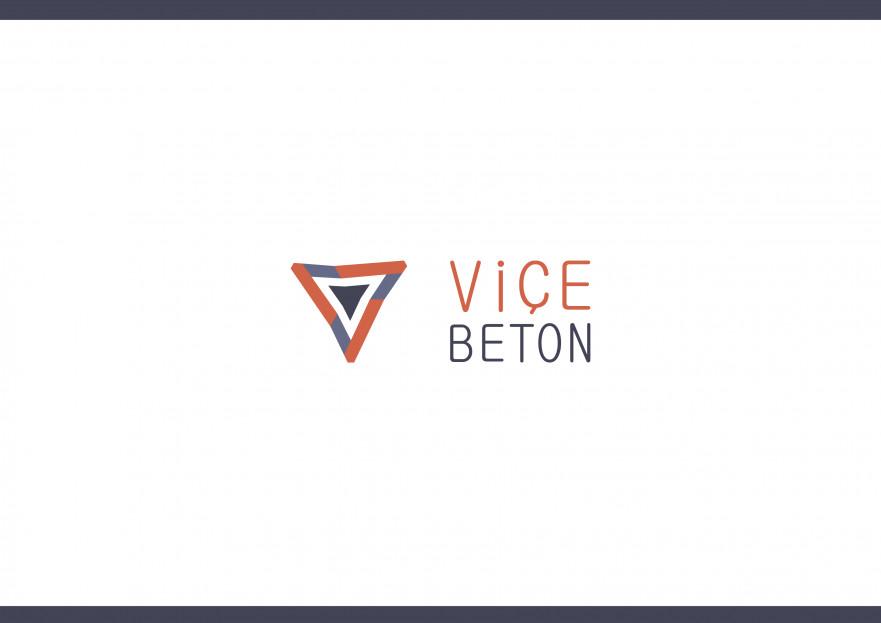 VİÇE BETON Logo Yarışması Başladı yarışmasına tasarımcı dr tarafından sunulan  tasarım