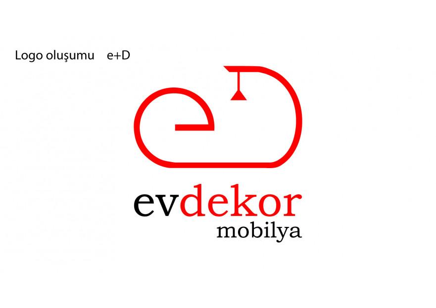 EV DEKOR MOBİLYA FİRMAMIZA YENİ LOGO  yarışmasına tasarımcı EMİRkadir tarafından sunulan  tasarım