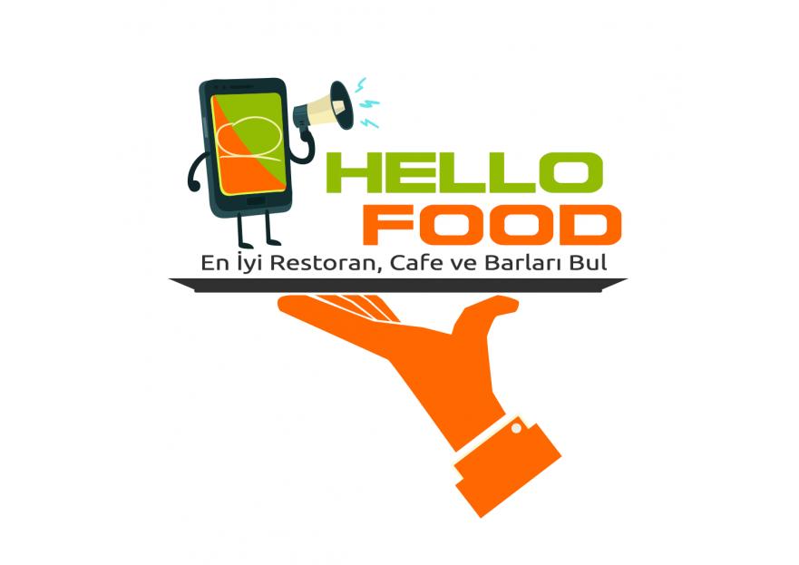 Hello Food uygulamasına logo yarışmasına tasarımcı ozlemozlem tarafından sunulan  tasarım