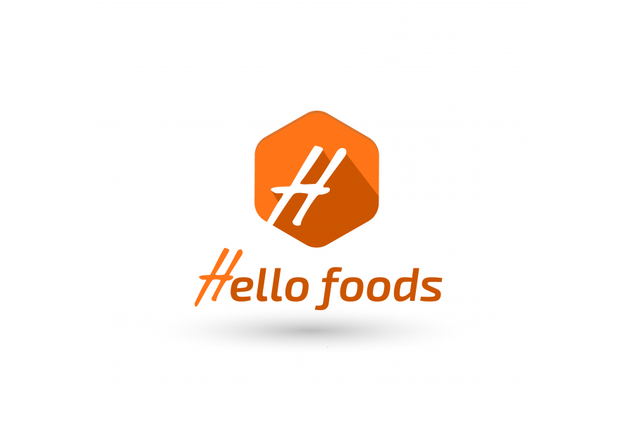 Hello Food uygulamasına logo yarışmasına tasarımcı Kaan grafik tarafından sunulan  tasarım