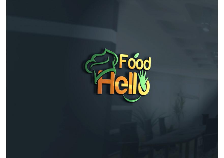 Hello Food uygulamasına logo yarışmasına tasarımcı X59 tarafından sunulan  tasarım