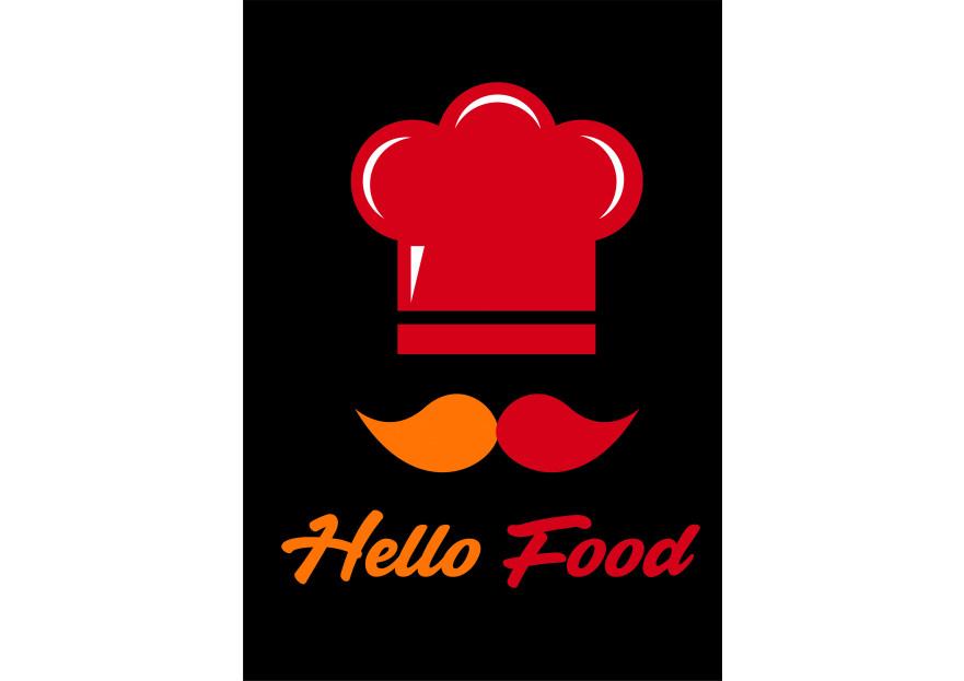 Hello Food uygulamasına logo yarışmasına tasarımcı casper1 tarafından sunulan  tasarım