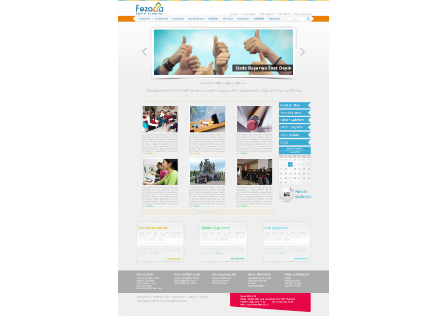 Özel Okul Web Sitesi yarışmasına tasarımcı karadenizli__61 tarafından sunulan  tasarım