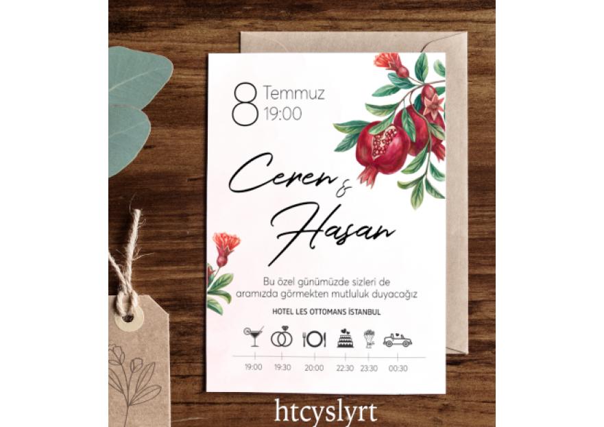 Düğün davetiyesi yarışmasına tasarımcı htcyslyrt tarafından sunulan  tasarım