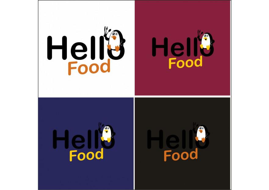 Hello Food uygulamasına logo yarışmasına tasarımcı elifgrafikdesign tarafından sunulan  tasarım