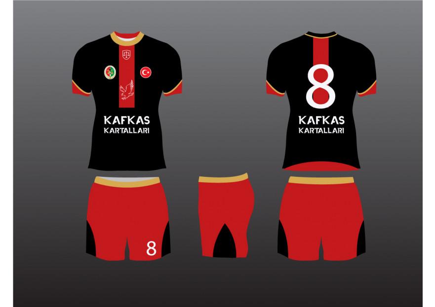 KARS BAROSU FUTBOL TAKIMI FORMA TASARIMI yarışmasına tasarımcı Sckndgn tarafından sunulan  tasarım