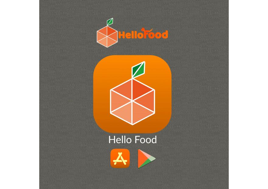 Hello Food uygulamasına logo yarışmasına tasarımcı atillakabar tarafından sunulan  tasarım