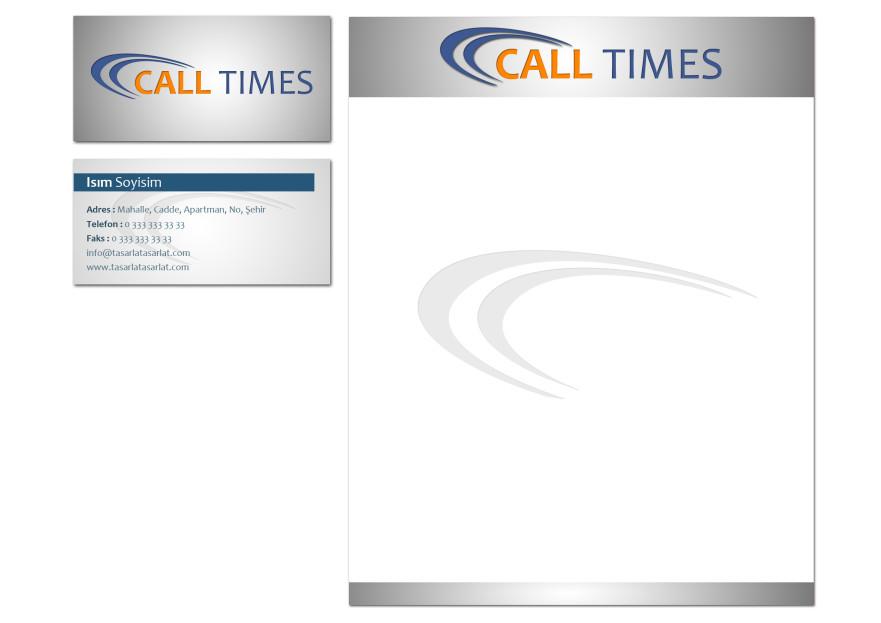 Çağrı merkezi için logo ve kimlik yarışmasına srcnbyrk tarafından girilen tasarım