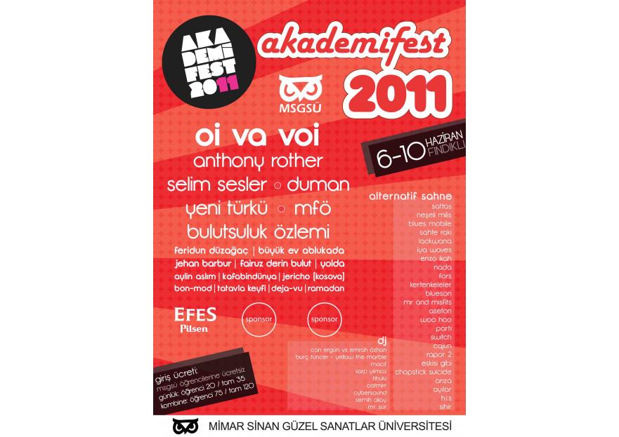 Akademifest 2011 Afiş Tasarımı yarışmasına GrafX tarafından girilen tasarım