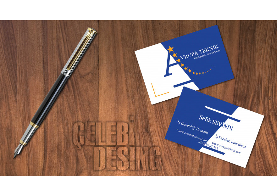 Kartvizit Tasarımı yarışmasına tasarımcı Çelebi Grafik tarafından sunulan  tasarım