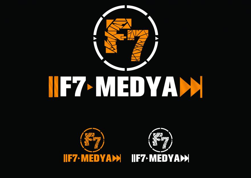 f7medya Logo Tasarımı yarışmasına Gromedya Tasarım tarafından girilen tasarım
