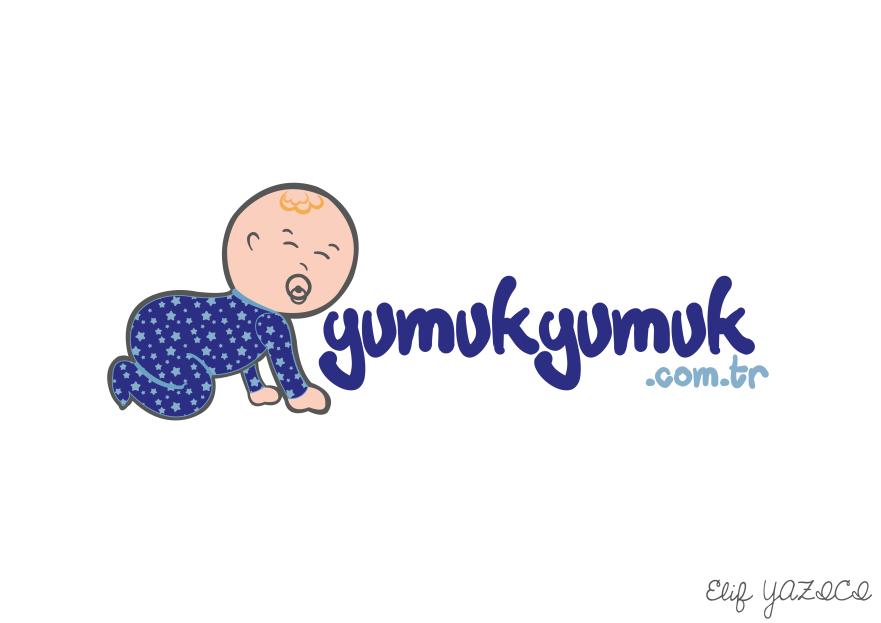 YUMUKYUMUK.COM.TR Logo ve Amblem Tasarım yarışmasına tasarımcı ElifYAZICI tarafından sunulan  tasarım