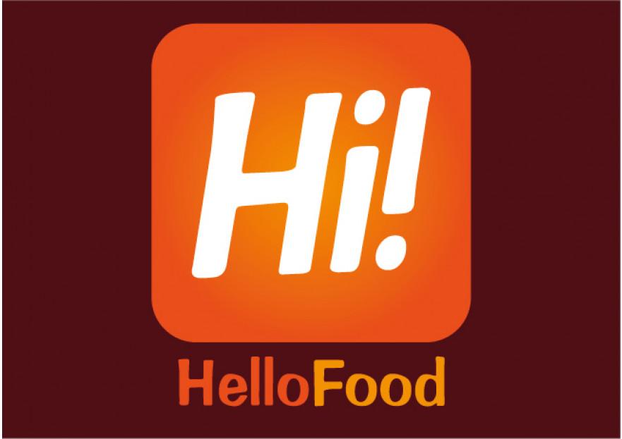 Hello Food uygulamasına logo yarışmasına tasarımcı DEMİR Reklam tarafından sunulan  tasarım