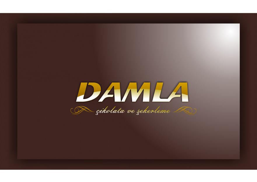DAMLA Çikolata ve Şekerleme logo tasarım yarışmasına tasarımcı BAKU tarafından sunulan  tasarım