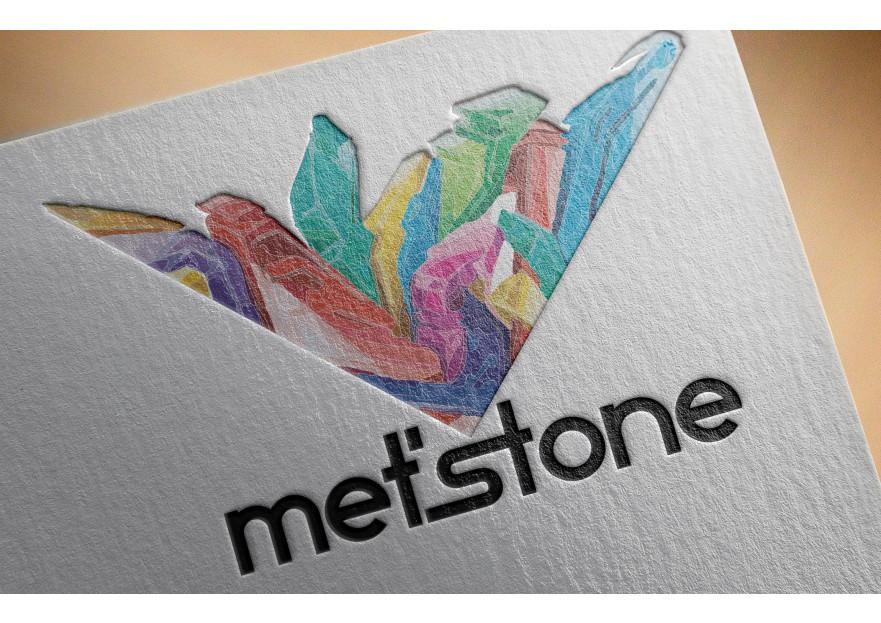 Met'Stone markası için logo tasarımı yarışmasına tasarımcı HakanAbi tarafından sunulan  tasarım
