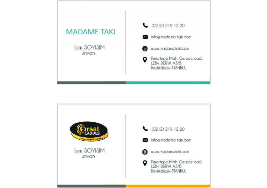 2 Marka Tek Kartvizit yarışmasına tasarımcı busra_kara tarafından sunulan  tasarım