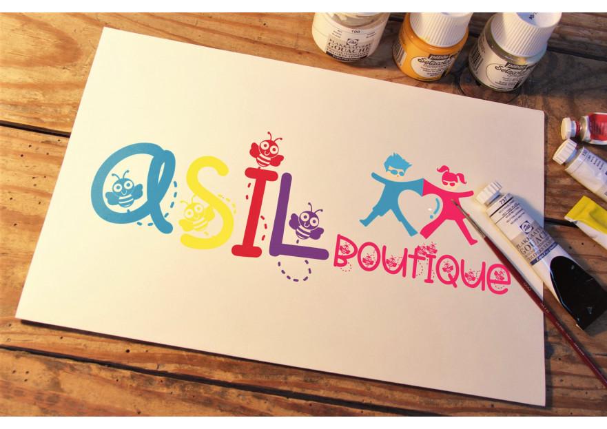 ASIL BOUTIQUE Çocuk Giyim Markası Logosu yarışmasına tasarımcı rojo_fuego tarafından sunulan  tasarım