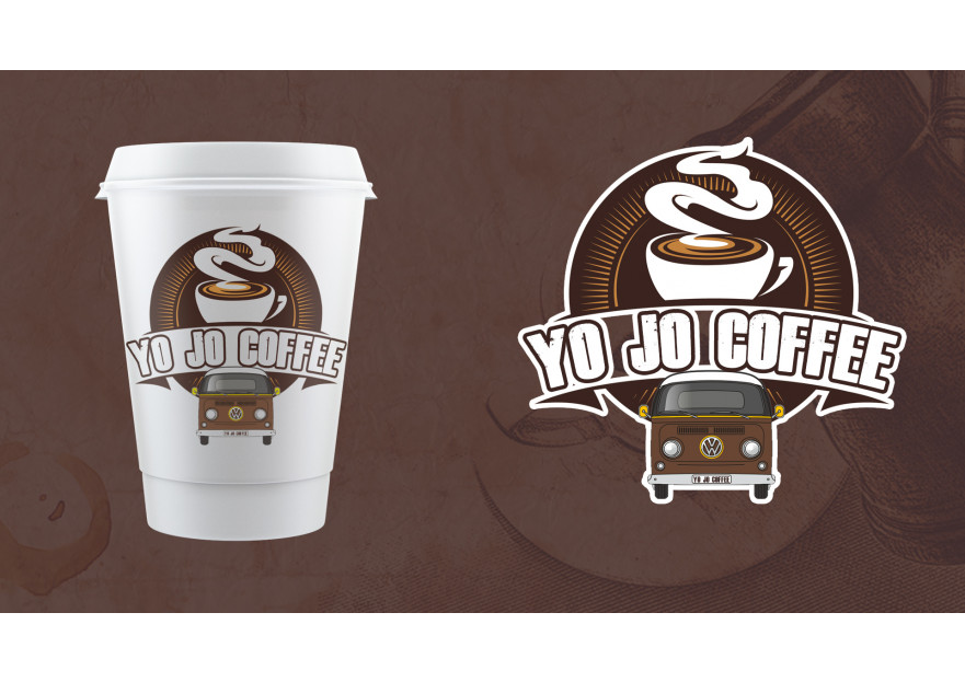 Kahveci Logosu yarışmasına tasarımcı YUSUFOGLU tarafından sunulan  tasarım