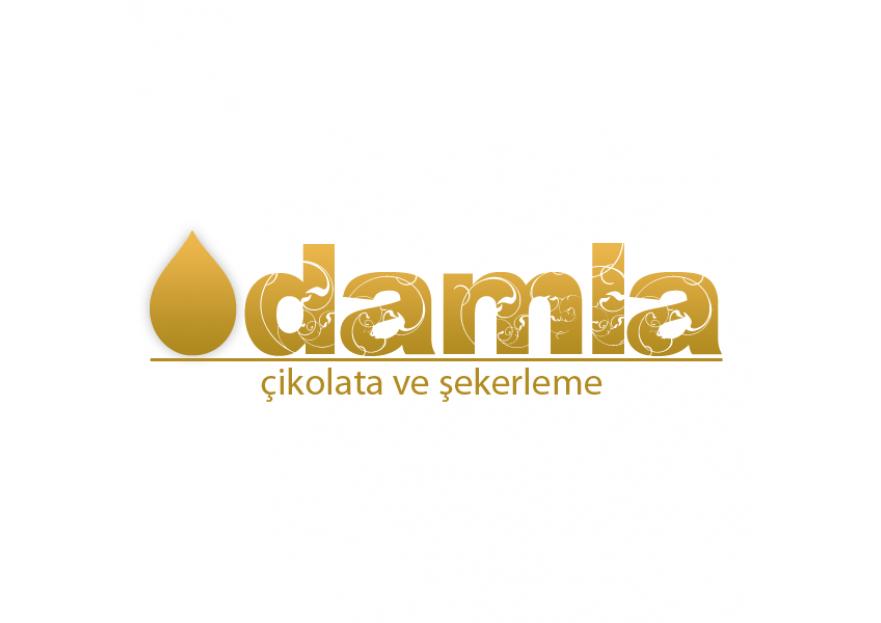DAMLA Çikolata ve Şekerleme logo tasarım yarışmasına tasarımcı dogrusoy tarafından sunulan  tasarım