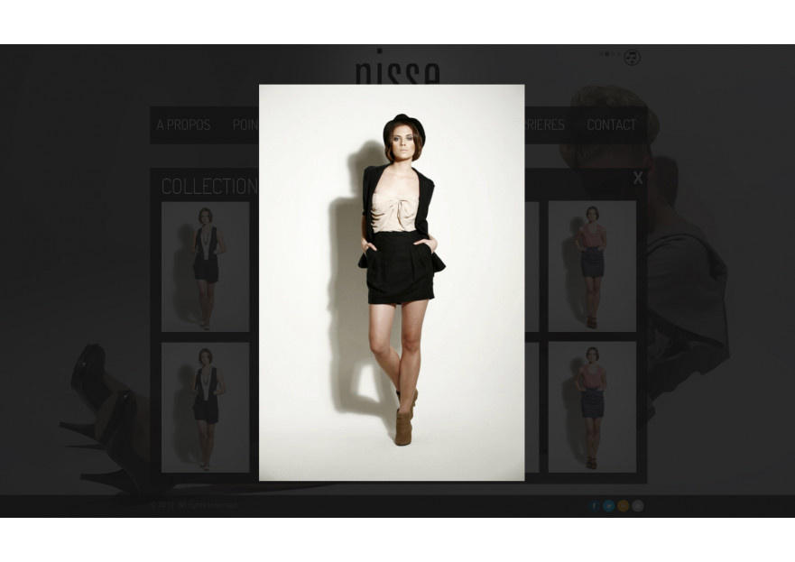Moda Web Site Tasarım yarışmasına lavanta tarafından girilen tasarım