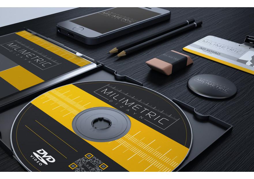 MİLİMETRİC DİZAYN LOGO, KART VE KURUMSAL yarışmasına mrdgsn tarafından girilen tasarım